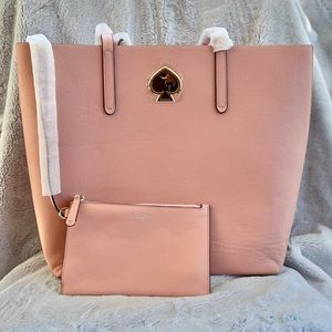NWOT Kate Spade Suzy Large North South Tote Pink